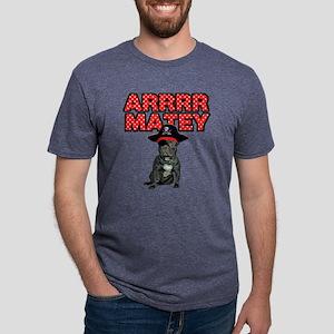 Pirate French Bulldog Mens Tri-blend T-Shirt