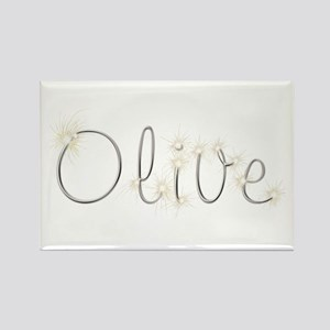 Olive Spark Rectangle Magnet