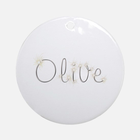 Olive Spark Round Ornament