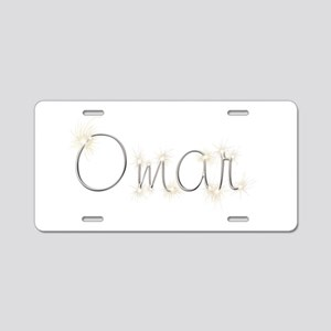 Omar Spark Aluminum License Plate