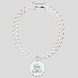 Super Nurse Charm Bracelet, One Charm