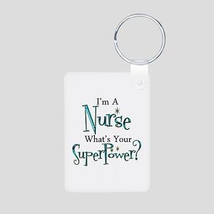 Super Nurse Aluminum Photo Keychain