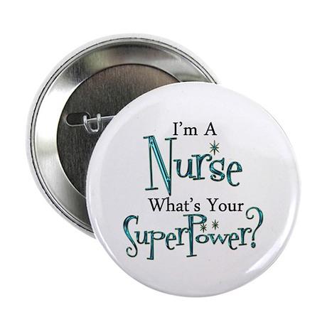 """Super Nurse 2.25"""" Button (100 pack)"""