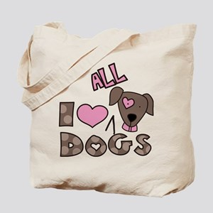 I Love All Dogs Tote Bag