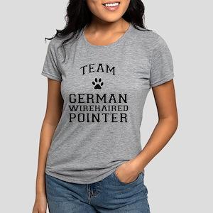 Team German Wirehaired Pointer Womens Tri-blend T-