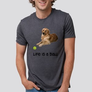 FIN-goldenretriever-life Mens Tri-blend T-Shir