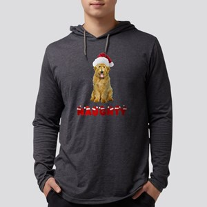 Naughty Goldendoodle Mens Hooded Shirt