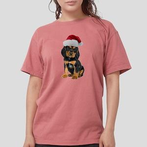 Gordon Setter Santa Womens Comfort Colors Shirt