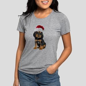 Gordon Setter Santa Womens Tri-blend T-Shirt