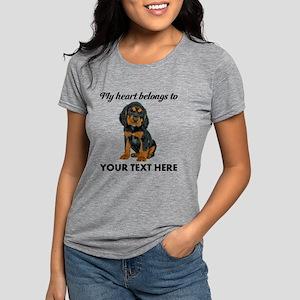 Custom Gordon Setter Womens Tri-blend T-Shirt