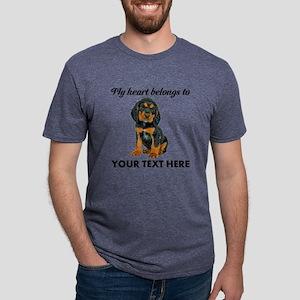 Custom Gordon Setter Mens Tri-blend T-Shirt