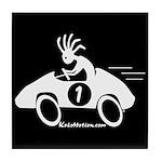 Kokopelli Race Car Driver Tile Coaster