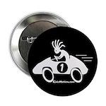 Kokopelli Race Car Driver Button