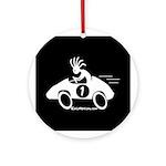 Kokopelli Race Car Driver Ornament (Round)
