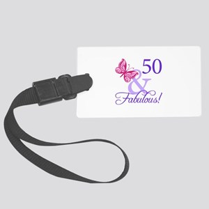 50 And Fabulous Birthday Gifts Large Luggage Tag