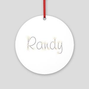 Randy Spark Round Ornament