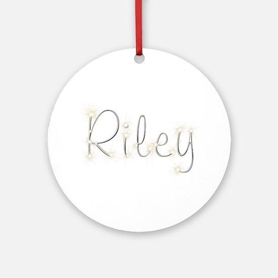 Riley Spark Round Ornament