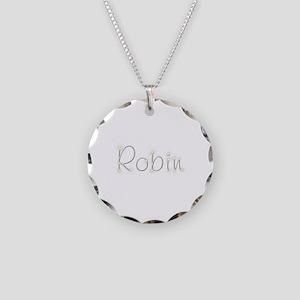 Robin Spark Necklace Circle Charm