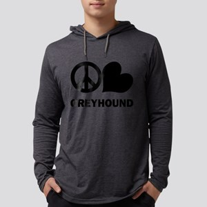 FIN-peace-love-greyhound Mens Hooded Shirt