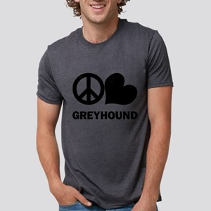 FIN-peace-love-greyhound Mens Tri-blend T-Shir