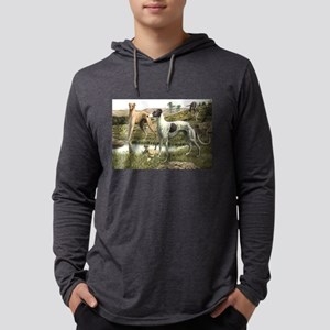 FIN-greyhound-portrait Mens Hooded Shirt