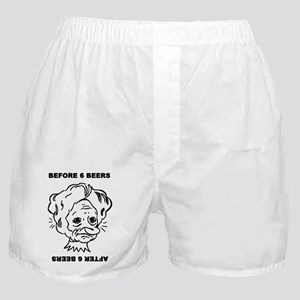 Before and after 6 beers Boxer Shorts