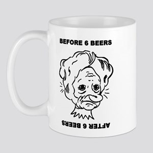Before and after 6 beers Mug