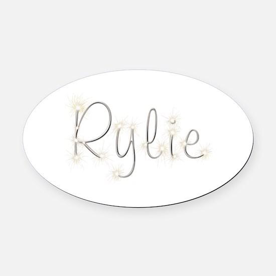 Rylie Spark Oval Car Magnet