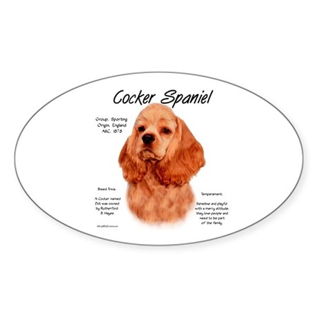 Cocker Spaniel (red) Sticker (Oval)