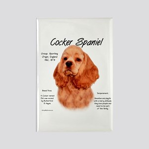 Cocker Spaniel (red) Rectangle Magnet
