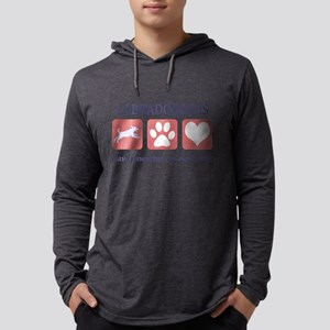 FIN-labradoodles-pawprints Mens Hooded Shirt