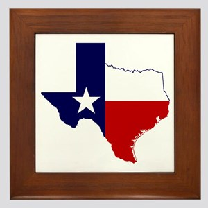 Texas Flag on Texas Outline Framed Tile