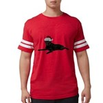 FIN-santa-blacklab Mens Football Shirt