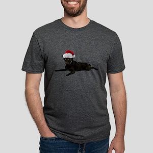 FIN-santa-blacklab Mens Tri-blend T-Shirt