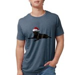 FIN-santa-blacklab Mens Tri-blend T-Shirt