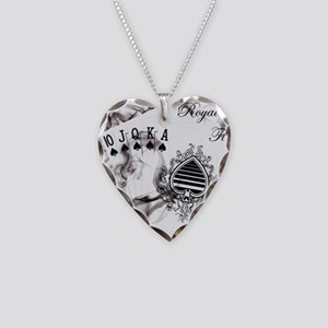 SmokinRoyalFlush Necklace Heart Charm