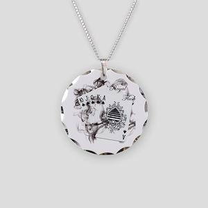 SmokinRoyalFlush Necklace Circle Charm