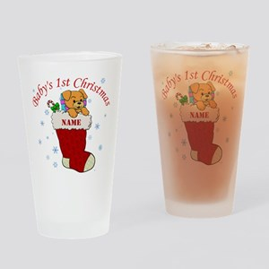 Babys 1st Christmas Drinking Glass
