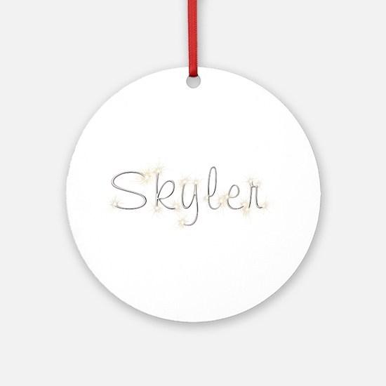 Skyler Spark Round Ornament