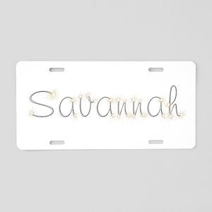 Savannah Spark Aluminum License Plate
