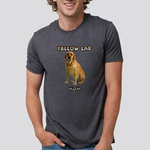 Yellow Lab Mom Mens Tri-blend T-Shirt