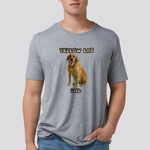 Yellow Lab Dad Mens Tri-blend T-Shirt