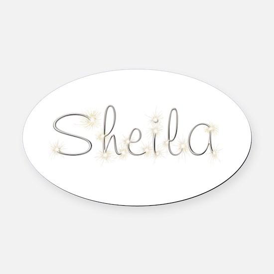 Sheila Spark Oval Car Magnet
