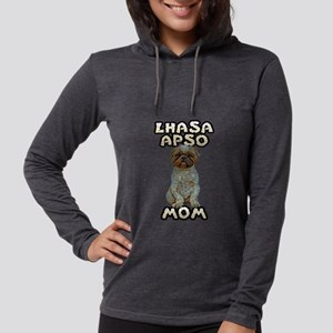 FIN-lhasa-apso-mom Womens Hooded Shirt