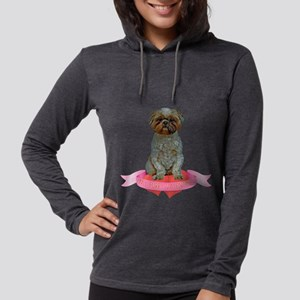 FIN-lhasa-apso-valentine Womens Hooded Shirt
