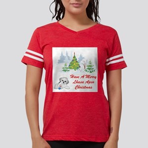 FIN-christmas-lhasa-apso Womens Football Shirt