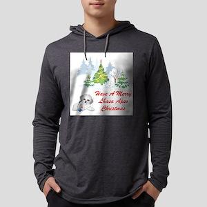FIN-christmas-lhasa-apso Mens Hooded Shirt