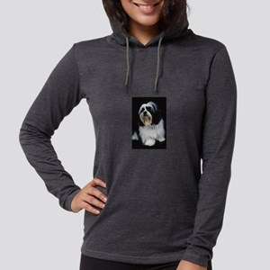 lhasa-apso Womens Hooded Shirt