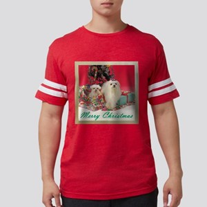 FIN-merry-christmas-maltese Mens Football Shir