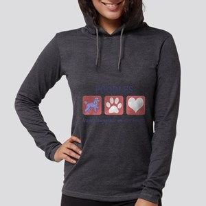 FIN-poodle-mini Womens Hooded Shirt